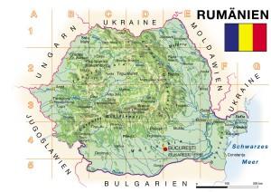 Karte Rumänien